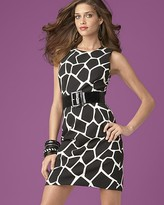 INC International Concepts ®  Printed Belted Sheath Dress