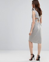 Wal G Dress With Rouched Skirt And Cross Back