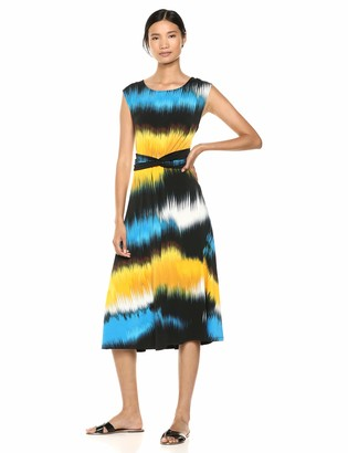 Chaus Women's Cap SLV Oasis Waves Dress