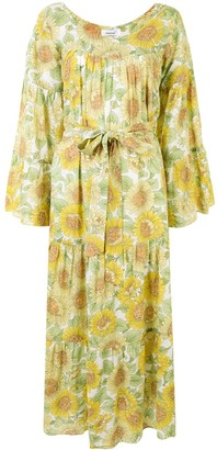 Bambah Sunflower Print Kaftan Dress
