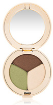 Jane Iredale PurePressed Eye Shadow Triple - Khaki Kraze - matte deep moss pale peach and shimmery soft brown