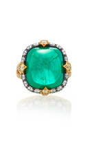 Bayco One-of-a-Kind Emerald & Diamond Ring