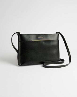 Ted Baker GOLNAZ Saffiano bar detail leather cross body bag