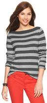Gap Eversoft envelope-neck stripe sweater