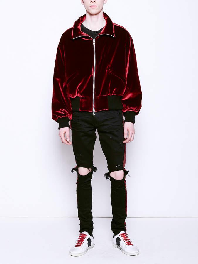 Amiri Puff velvet jacket