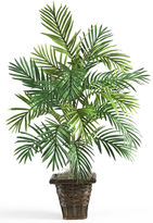 Asstd National Brand Nearly Natural Areca Palm Silk Plant with Wicker Basket