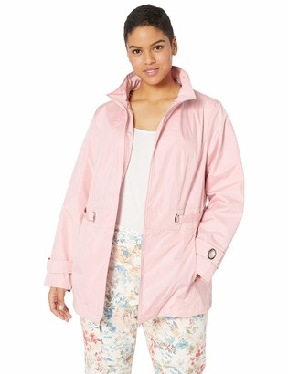 Details Women's Plus Size Zip Front Hooded Jacket