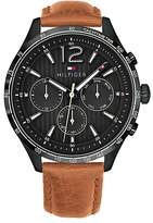 Tommy Hilfiger Multi-Eye Watch With Leather Strap
