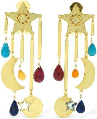 Mercedes Salazar Estrella Magica De Arcoiris Earrings