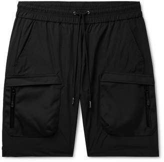 John Elliott Canvas-Trimmed Nylon Drawstring Cargo Shorts
