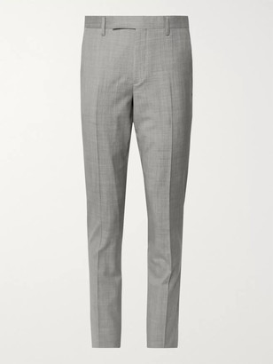 Paul Smith Light-Grey Slim-Fit Melange Wool Suit Trousers - Men - Gray