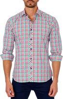 Jared Lang Plaid Sport Shirt, White