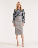 Veronica Beard Twain Plaid Pencil Skirt