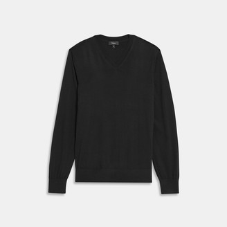 Theory Regal Wool V-Neck
