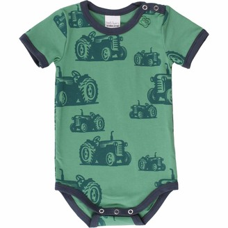 Fred's World by Green Cotton Baby Boys' Farming S/s Body Shaping Bodysuit