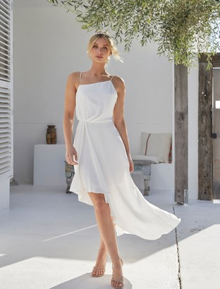 Forever New Danielle Strappy Ruffle Maxi Gown - Ivory - 10