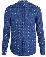 120% Lino Polka-dot Embroidered Linen Shirt