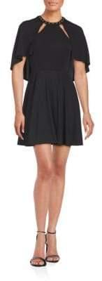 ABS by Allen Schwartz Studded Roundneck Dress