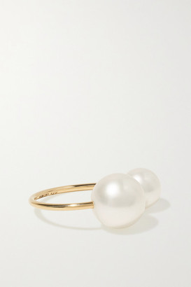 Mizuki 14-karat Gold Pearl Ear Cuff - one size