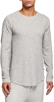 Sol Angeles Men's Speckled Thermal Henley Shirt