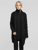 Calvin Klein Collection Cashmere Chunky Rib Cardigan