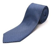 Luciano Barbera Men's Slim Silk Neck Tie Navy Light Blue.