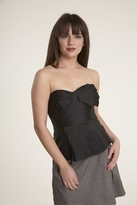 Plenty by Tracy Reese Pleated Strapless Top in Black