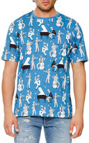 Dolce & Gabbana Jazz-Print T-Shirt, Light Blue