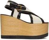 Isabel Marant Ecru Zlova Wedge Sandals