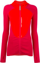 adidas by Stella McCartney high shine trim zip up hoodie - women - Spandex/Elastane/Recycled Polyester - XS