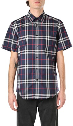Burberry Ckecked Motif Cotton Shirt