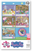 Disney Peppa Pig 168-Piece Puzzle Set
