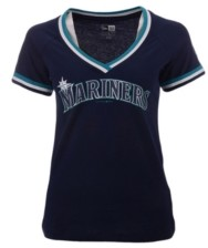 5th & Ocean Seattle Mariners Women's Contrast Binding T-Shirt