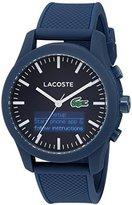 Lacoste Men's '12.12-TECH' Quartz Plastic and Rubber Smart Watch, Color:Blue (Model: 2010882)