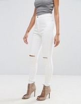 Missguided Vice High Waisted Super Stretch Slash Knee Skinny Jean