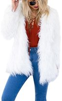 Imixshopcs Fashion Women Winter Faux Fur Long Sleeve Solid Jacket Warm Coat Outerwear (8-10, )