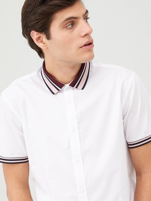 Very Knitted Mono Baseball Shirt - White