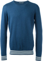 Ermanno Scervino striped trim sweatshirt - men - Cotton - 48