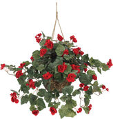 Asstd National Brand Nearly Natural Begonia Hanging Basket