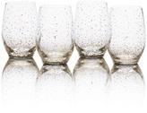 Mikasa Lustre Set of 4 Dots Gold Stemless Wine Glasses