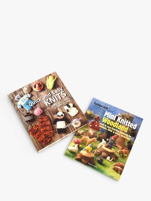 Search Press Quick and Easy Knits and Mini Knitted Woodland Knitting Book Bundle