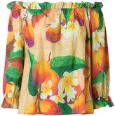 Isolda off the shoulder mango blouse