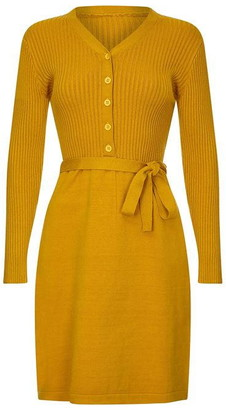 Yumi Knitted Ribbed Dress