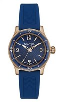 Nautica Women's 'NWS 01' Quartz Stainless Steel and Silicone Casual Watch, Color:Blue (Model: NAD13525L)