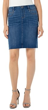 Liverpool Los Angeles Gia Denim Pencil Skirt