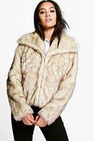Boohoo Petite Daniella Vintage Faux Fur Coat