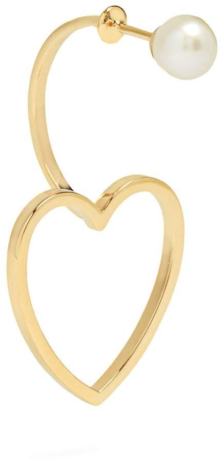 Delfina Delettrez Pearl & pink-gold single earring