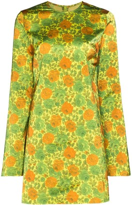 Marques Almeida Marques'almeida floral-print satin mini dress