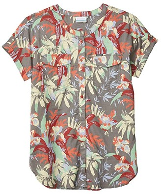 Columbia Camp Henrytm Relaxed Shirt (Dusty Crimson Floral Print) Women's Short Sleeve Button Up