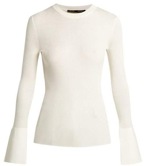 Proenza Schouler Ribbed Silk Blend Sweater - Womens - Ivory